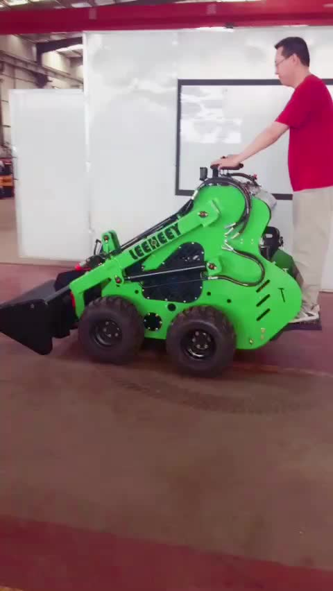 Compact cheap tracked and wheeled multi garden mini skid steer loader with different accessories