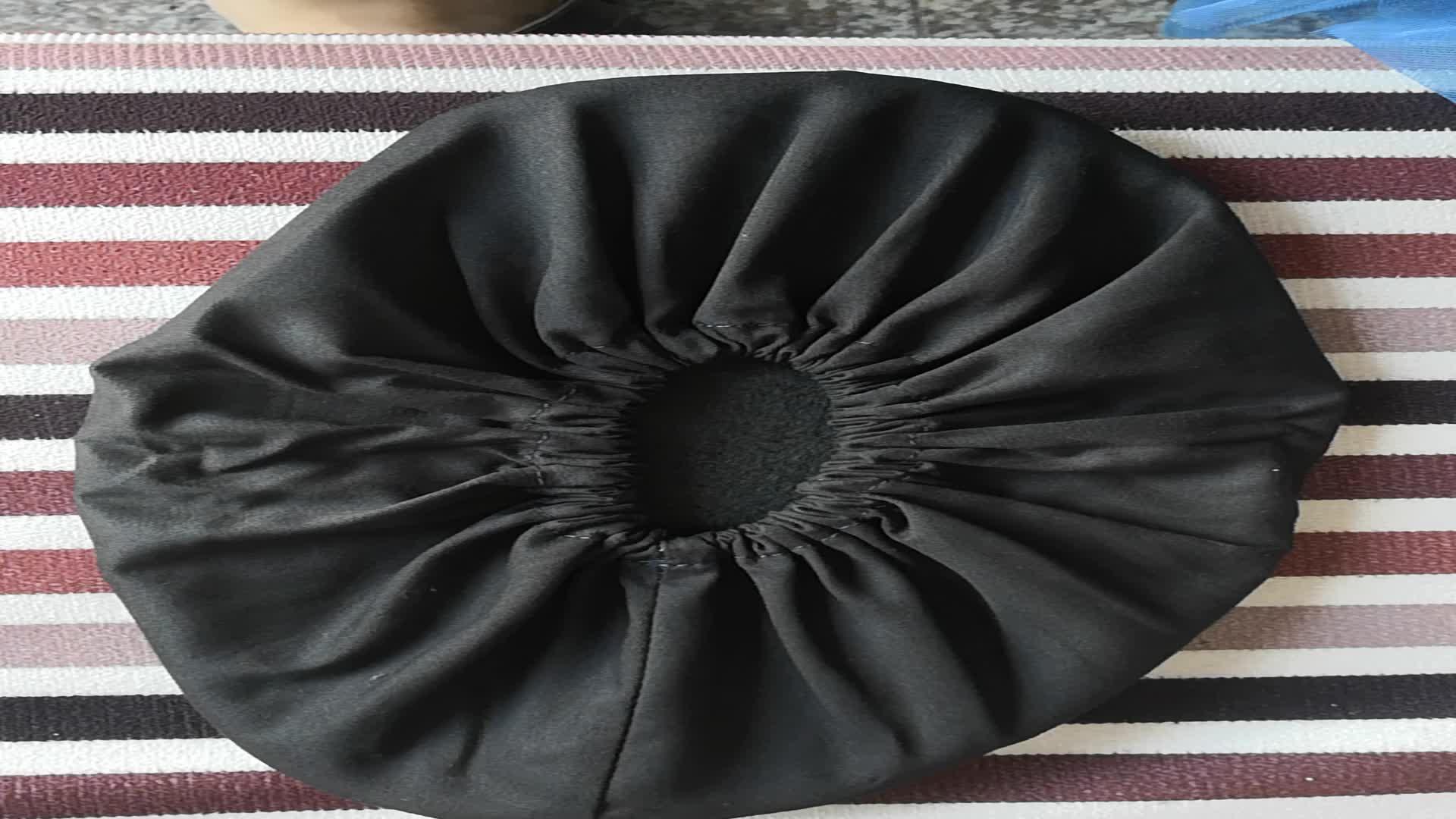Noir Couleur Coton tissu anti-dérapant Réutilisable Botte Couvre-chaussures Pour Plus de Commodité pour Intérieur, entrepreneurs et Tapis de Protection De Sol