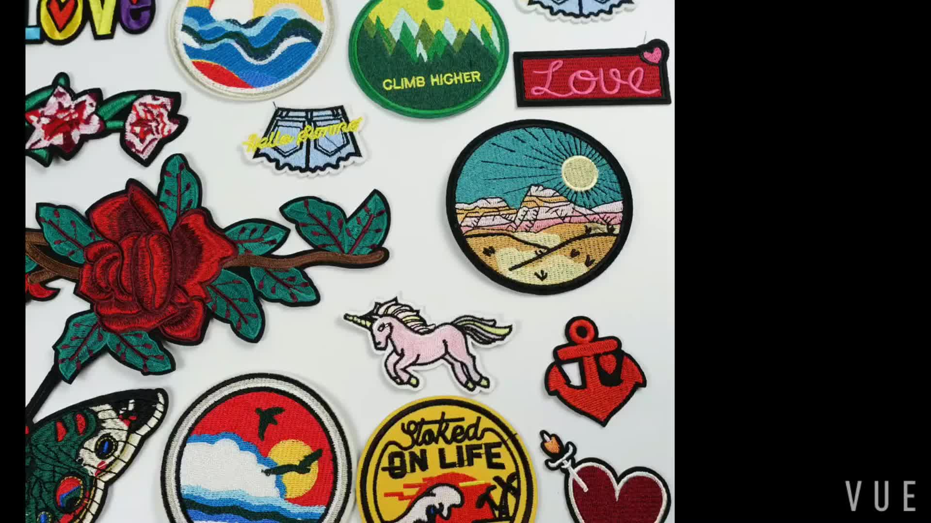 Small quantity personalised custom logo embroidery applique decoration patch