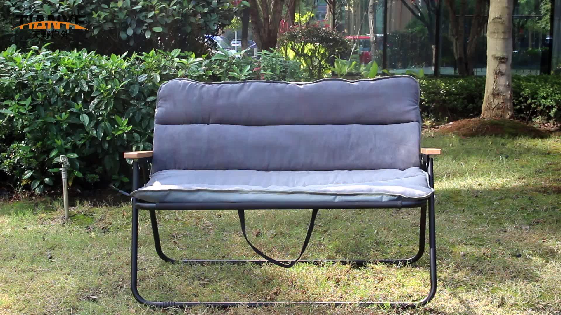 Tianye toptan alüminyum paslanmaz katlanır taşınabilir kamp çift plaj koltuk bahçe sandalyesi rahatla köşeli parantez