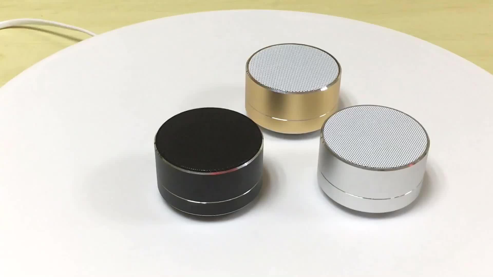 도매 (High) 저 (Quality A10 LED Round Mini Wireless 휴대용 Bluetooth 스피커