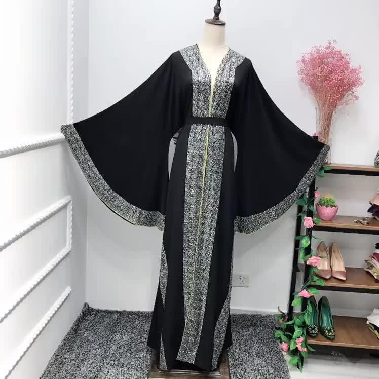 LR260 # luxe turquie mode magnifique dernière diamante conception longue abaya pour les femmes musulmanes longue robe kimono robe dubaï