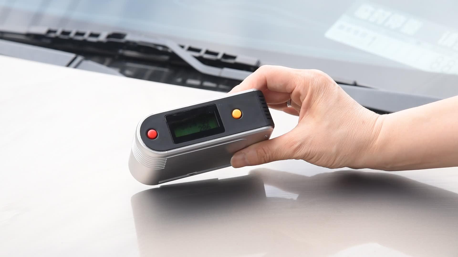 Yüksek kalite usb Bağlantısı Ve Veri Depolama Hassas Dijital Akıllı araba boyası parlaklık ölçer Fiyat