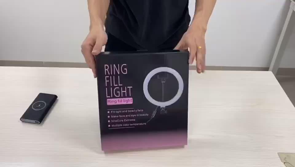 Hot selling selfie light ring for live broadcast desktop selfie brackets Led ring light with tripod stand cell phone holder