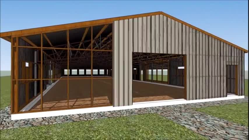 China chicken prefab steel structure poultry house processing factory supplies