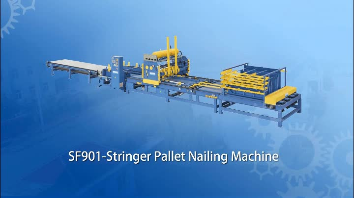 Automatic Wooden Stringer Pallet Nailing Production Line
