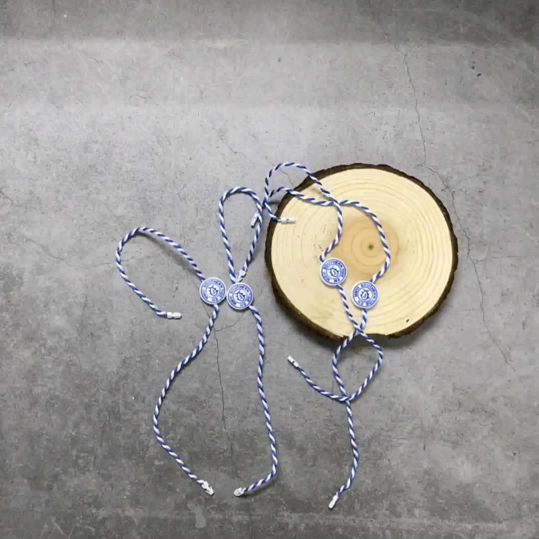 Custom hang tag string for clothing, good quality string for jacket, jeans, shoes
