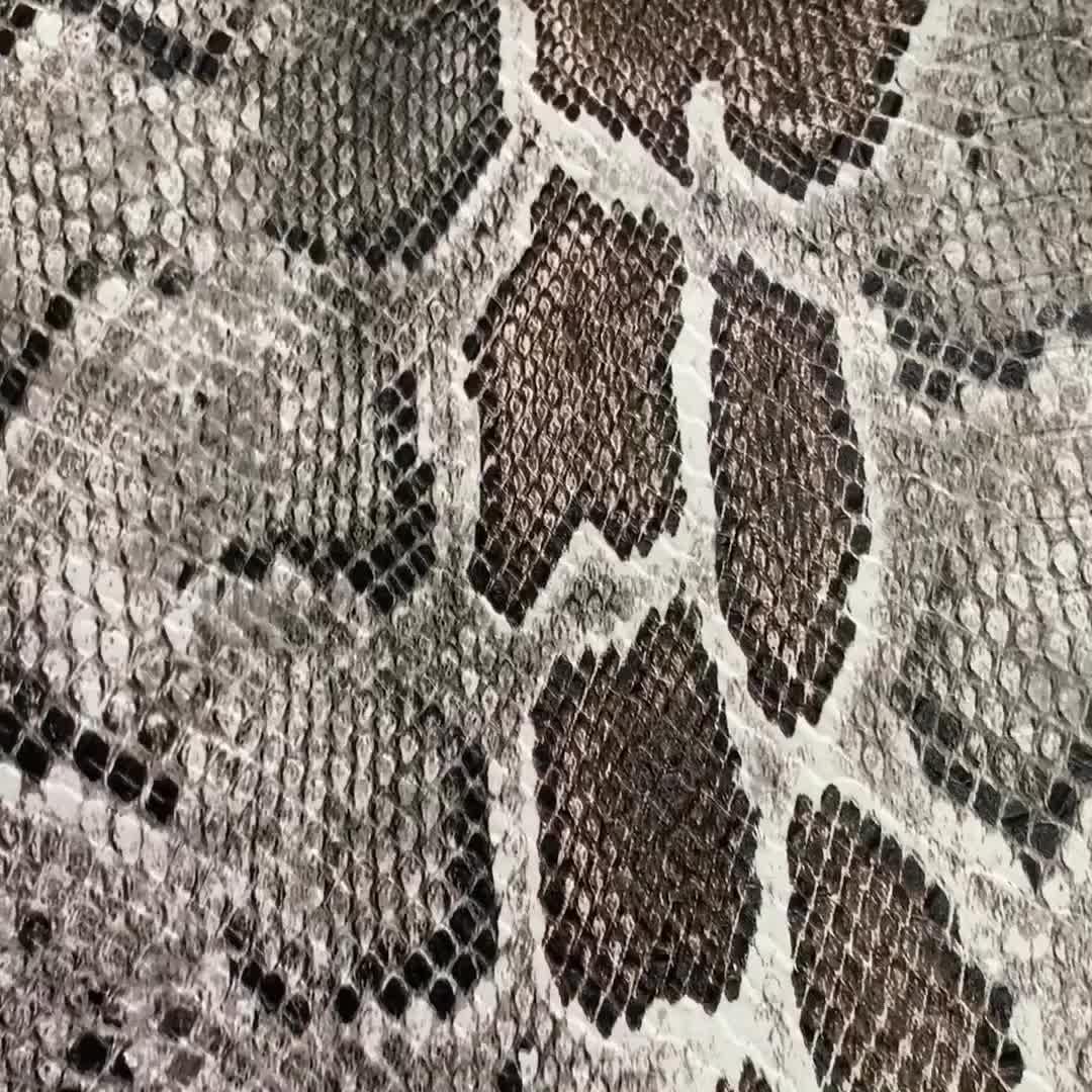 Nuevos productos más populares de piel de serpiente película de impresión de transferencia de agua Sello de cuero
