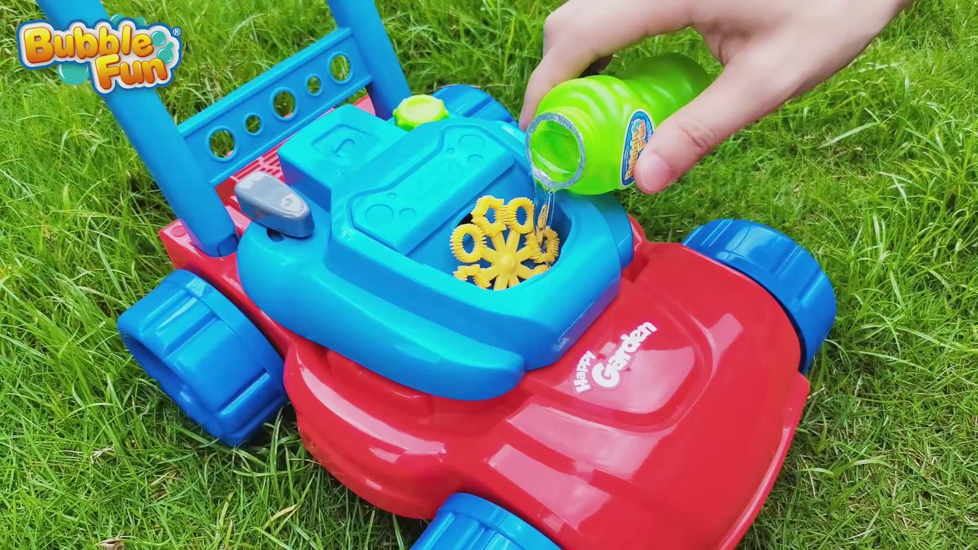 Gelembung Mesin Pemotong Rumput Mainan Otomatis Mesin Bubble Bubble Blower untuk Taman Anak-anak-Outdoor & Indoor Mainan untuk Balita