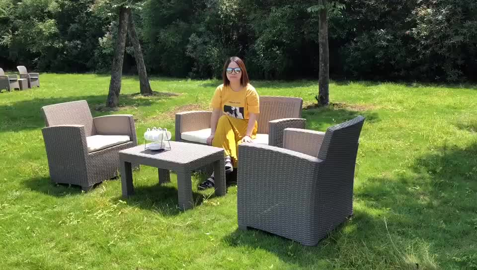 2019 Hot sale modern rattan sofa set injection outdoor furniture
