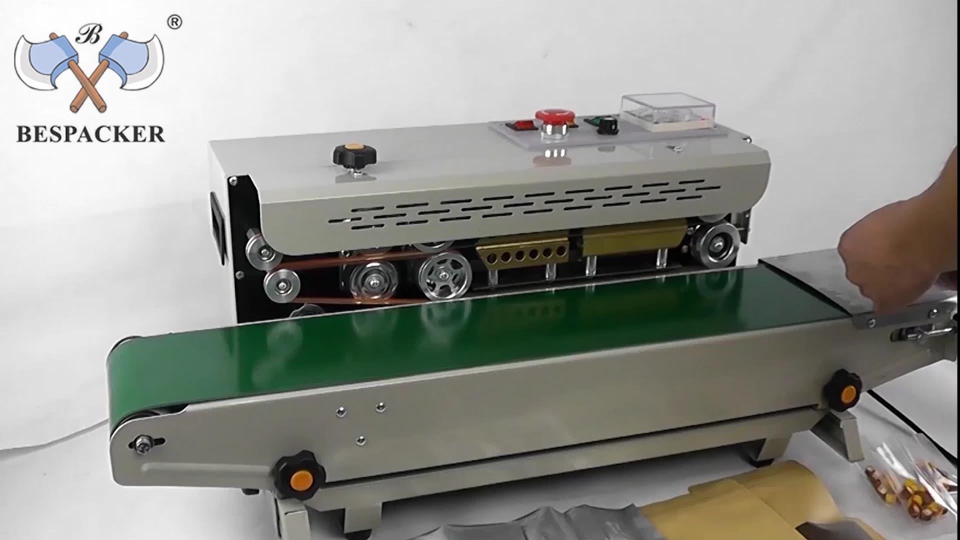 FR-900 Tự Động Ngang Phim Nhựa Túi Xách Nhiệt Niêm Phong Máy Liên Tục Ban Nhạc Niêm Phong Máy