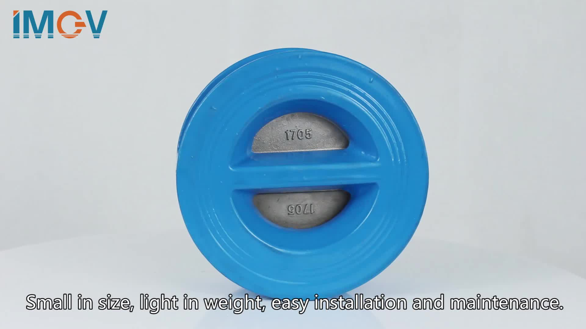 Food grade cast iron  double way wafer type check valve drawing