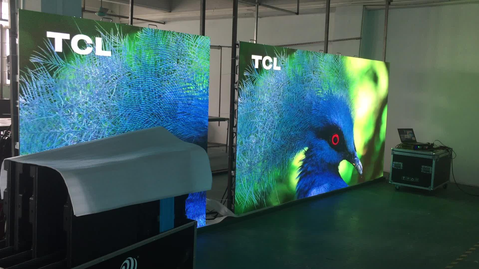 داخلي Chipshow P6 576*576 مللي متر كامل اللون أدى عرض للدعاية الجدار الفيديو