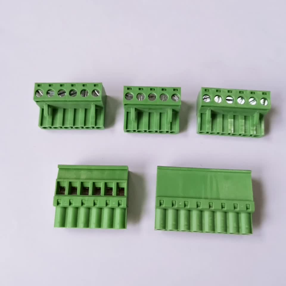 3.81 mm 10 Positions Pluggable Terminal Block Screw 300V