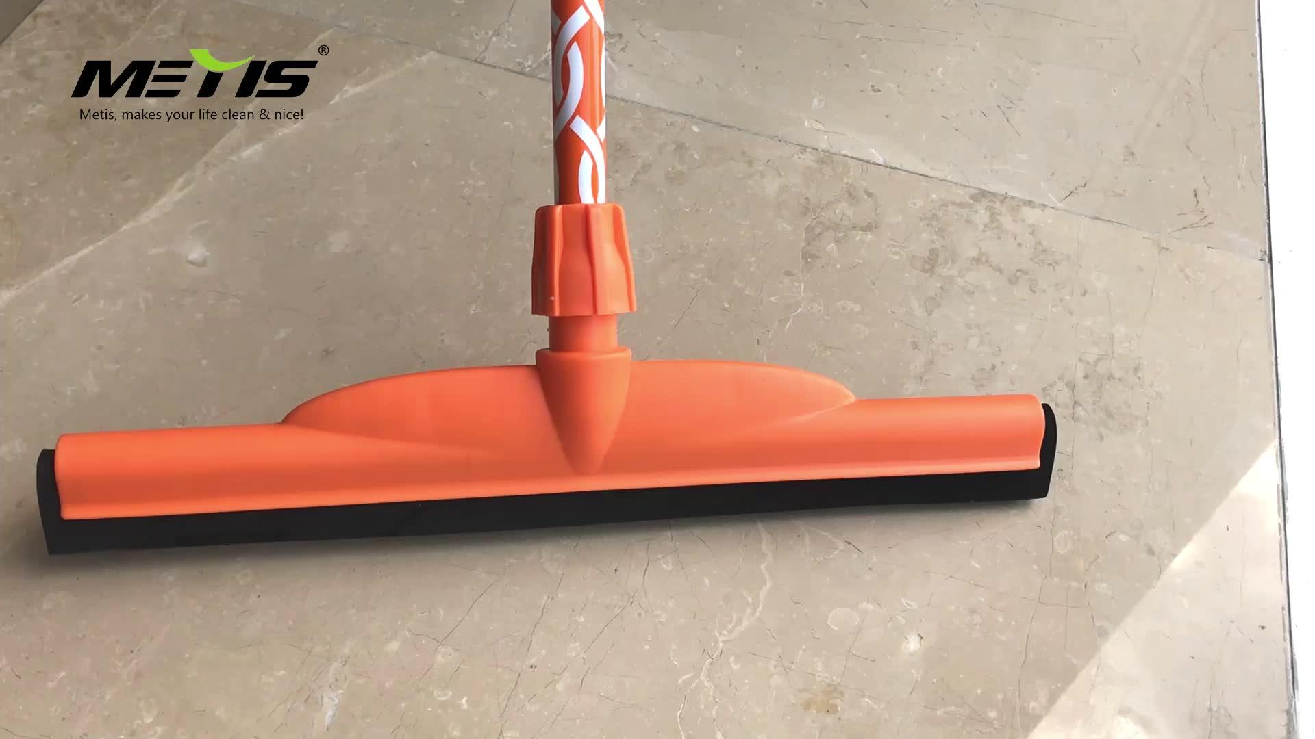Weicher Doppelgummi-Gummischieber mit robustem Metallrahmen und Gewindemuffe Aluminiumklinge mit doppeltem faltbarem Schaumstoff
