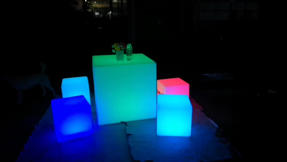 led cocktail bar table glowing led light cube seat chair lighting for adult kids