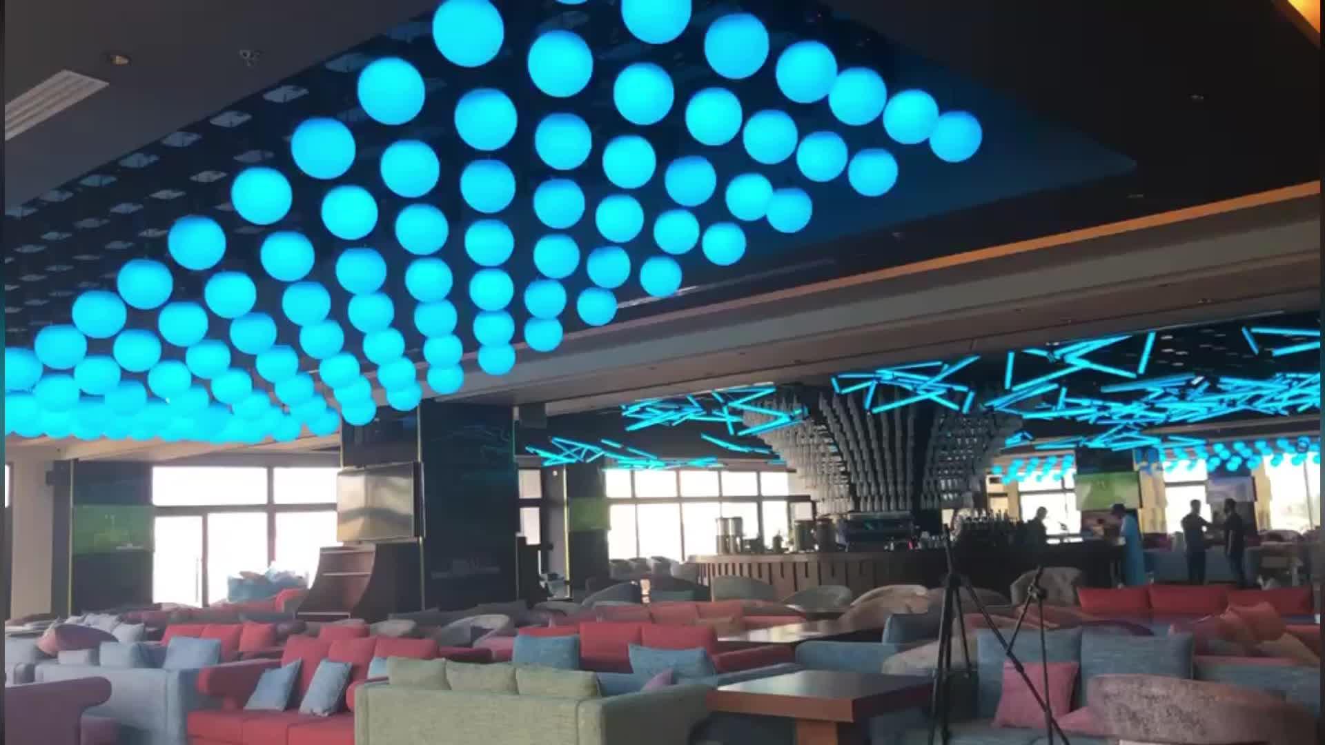 ผู้ผลิตกิจกรรมตกแต่งเพดาน STAGE DJ LED Kinetic Ball LIGHT
