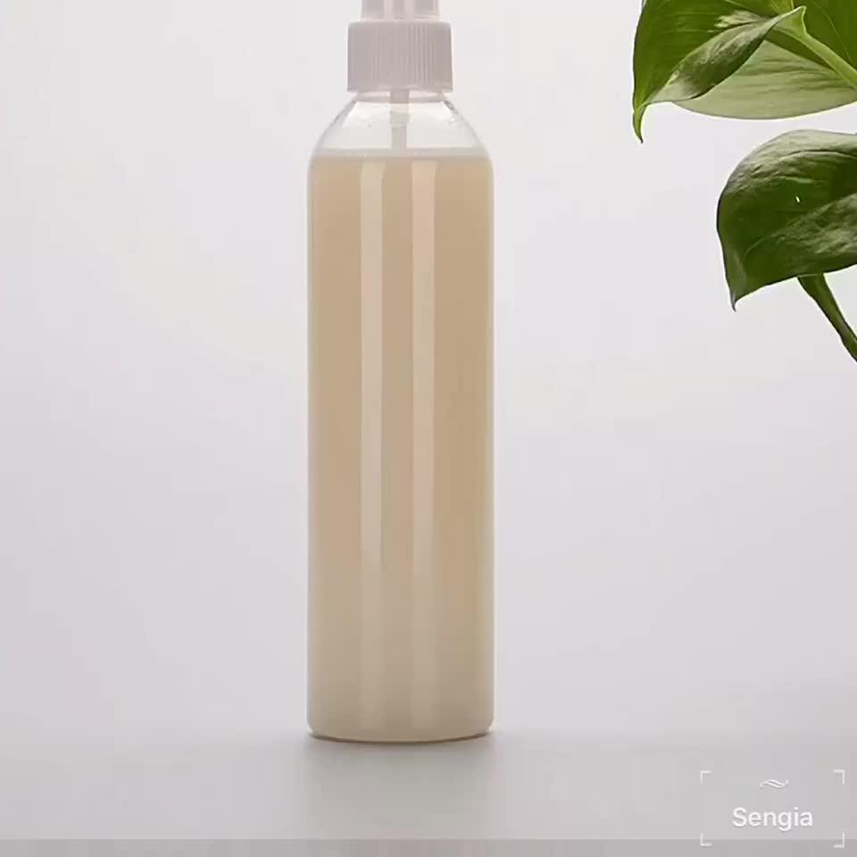 250ml PET tipo de plástico garrafa de xampu Uso com bomba de garrafa de plástico com dispensador de bomba