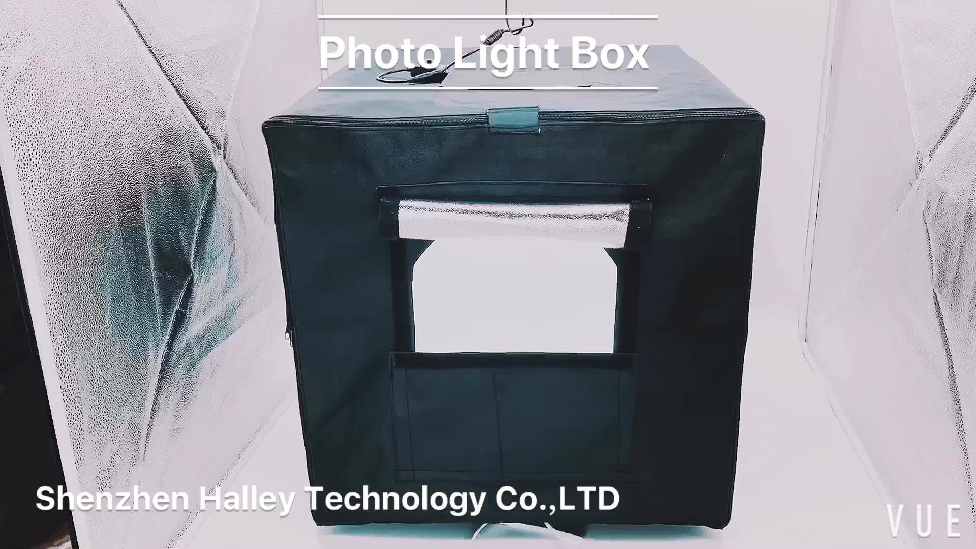 ไฟLedขนาด24นิ้วสำหรับสตูดิโอถ่ายภาพ,ชุดสตูดิโอถ่ายภาพมืออาชีพเต็นท์ถ่ายภาพขนาด60ซม. พร้อมแถบไฟLed 2เส้น