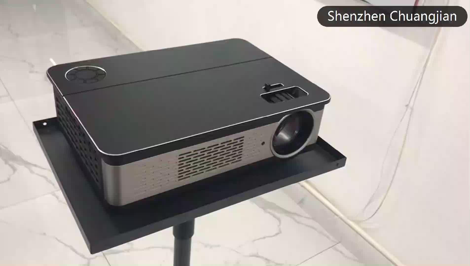 โรงงานราคา Native 1080P 280 นิ้วหน้าจอโฮมเธียเตอร์โปรเจคเตอร์สำหรับวิดีโอทีวีภาพยนตร์ภาพ LCD เกม