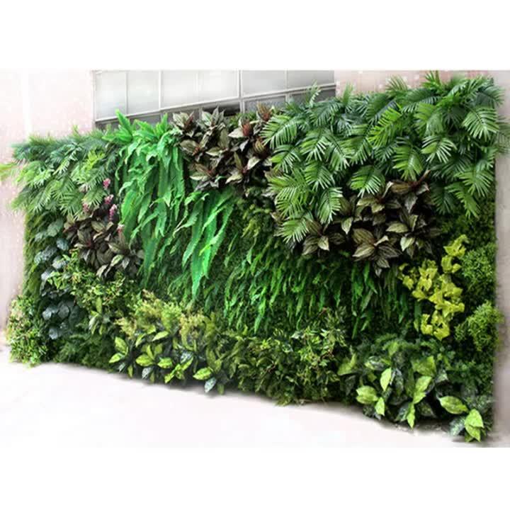 Nieuwe ontwerp verticale planten muur kunstmatige groene muur systeem voor binnen tuin module decoratie