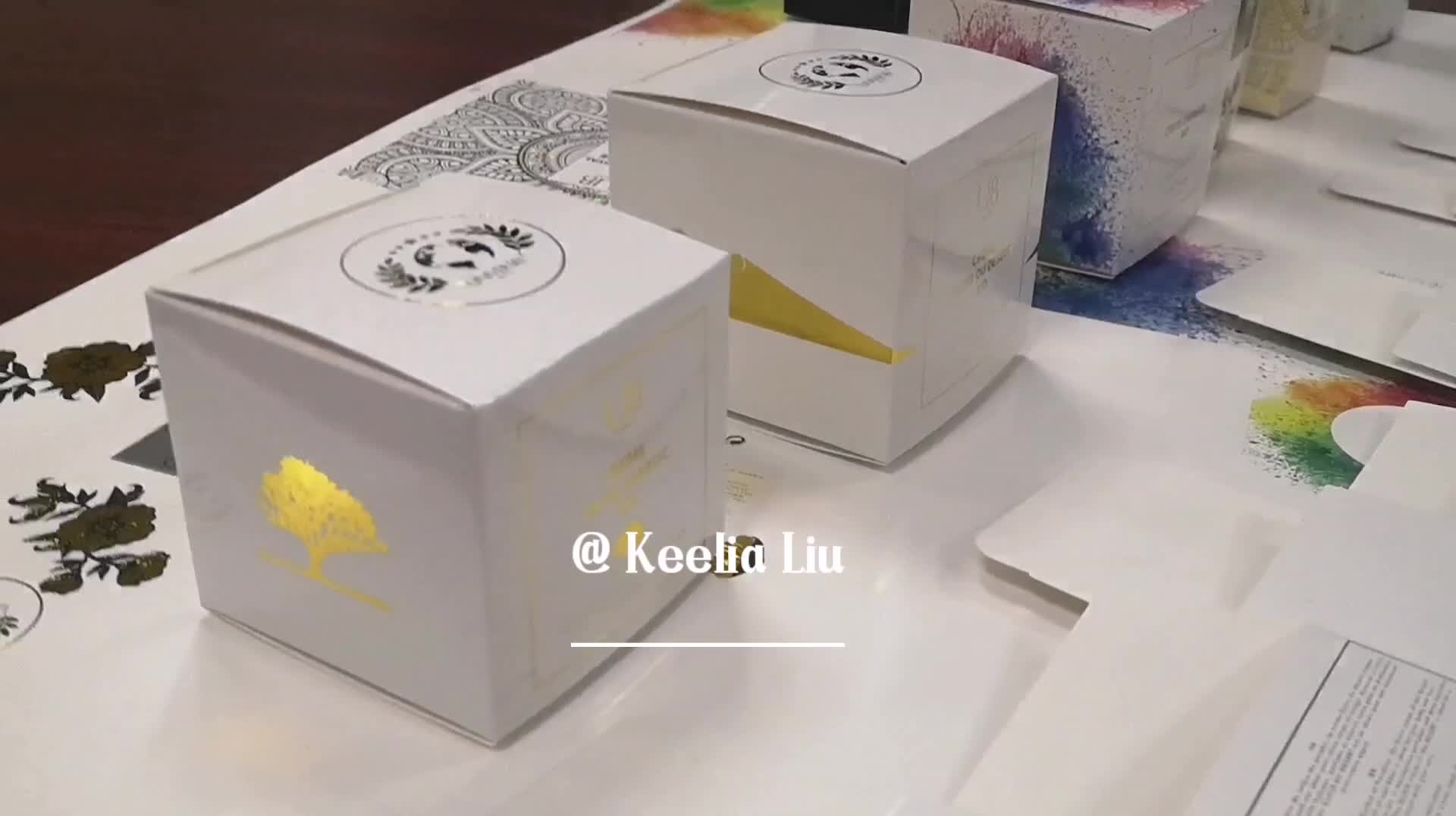 Customized cardboard gold stamping cosmetic  packaging perfume boxes