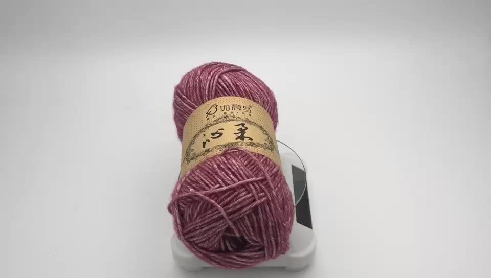 Factory custom blends blend yarn 78%cotton 22%acrylic blended hand knitting yarn