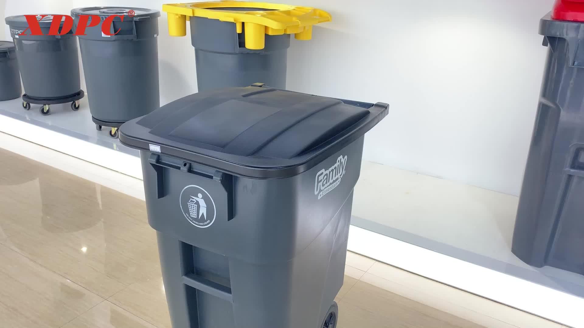 200l outdoor gemeenschap esd plastic wielen afvalbak dubai