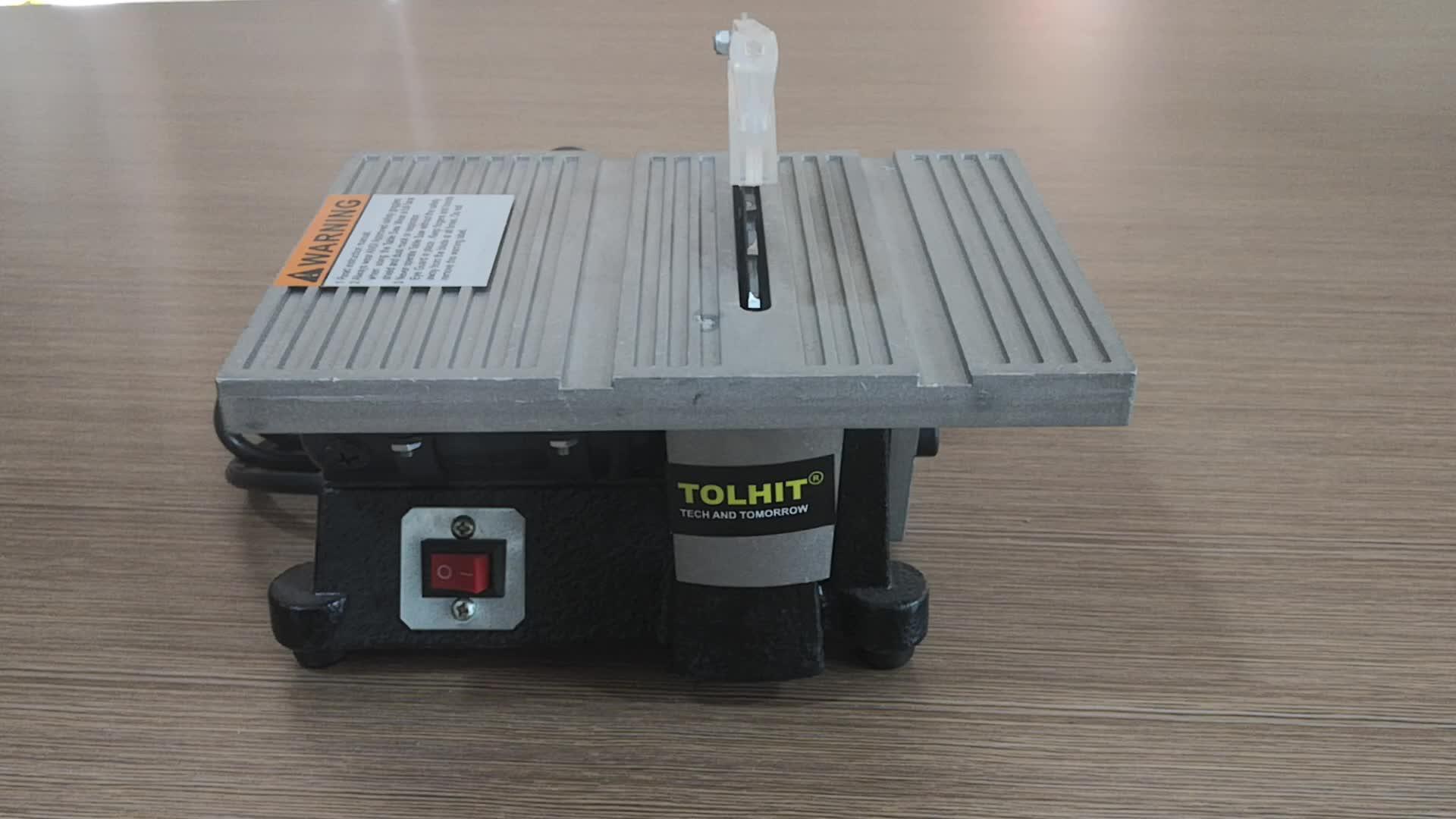 """TOLHIT 100mm 4 """"90 w Güç Ahşap Kesme Küçük Tezgah Testere Elektrikli Taşınabilir Takı Mini Hobi Ticari Masa Testereler"""