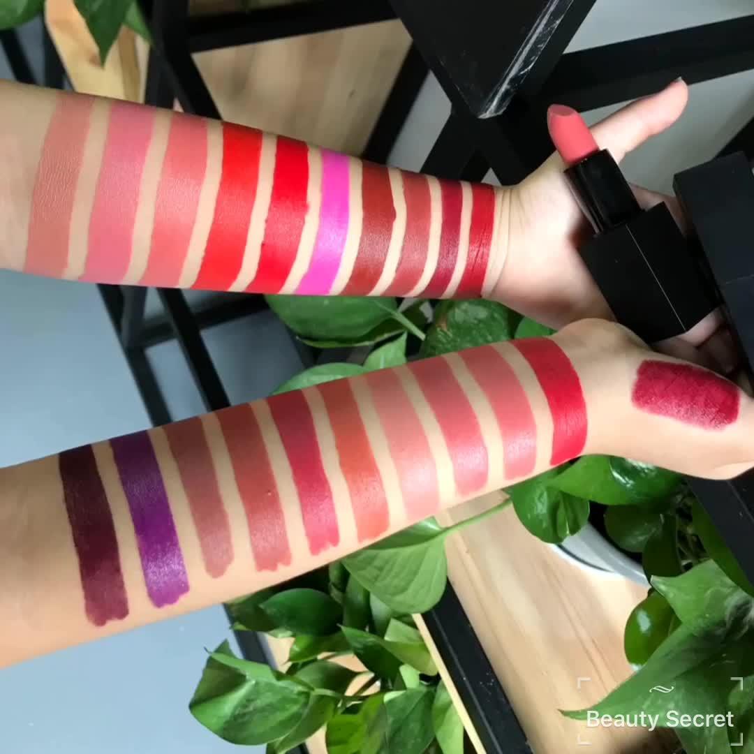 Makeup vendor oem wholesale waterproof natural custom private label matte lipstick