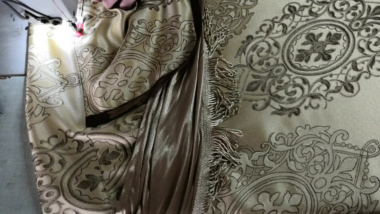 factory hot sell ready made curtains luxurious curtains with valance we have six colors in the stock