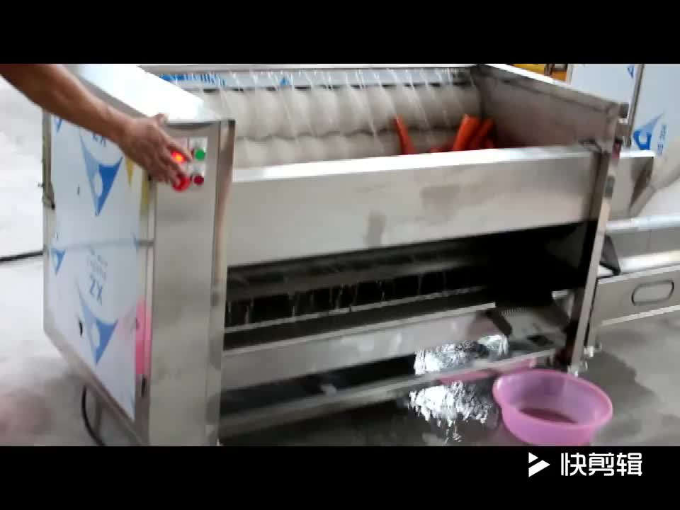 Commercial potato processing line sweet potato washing peeling cutting machine