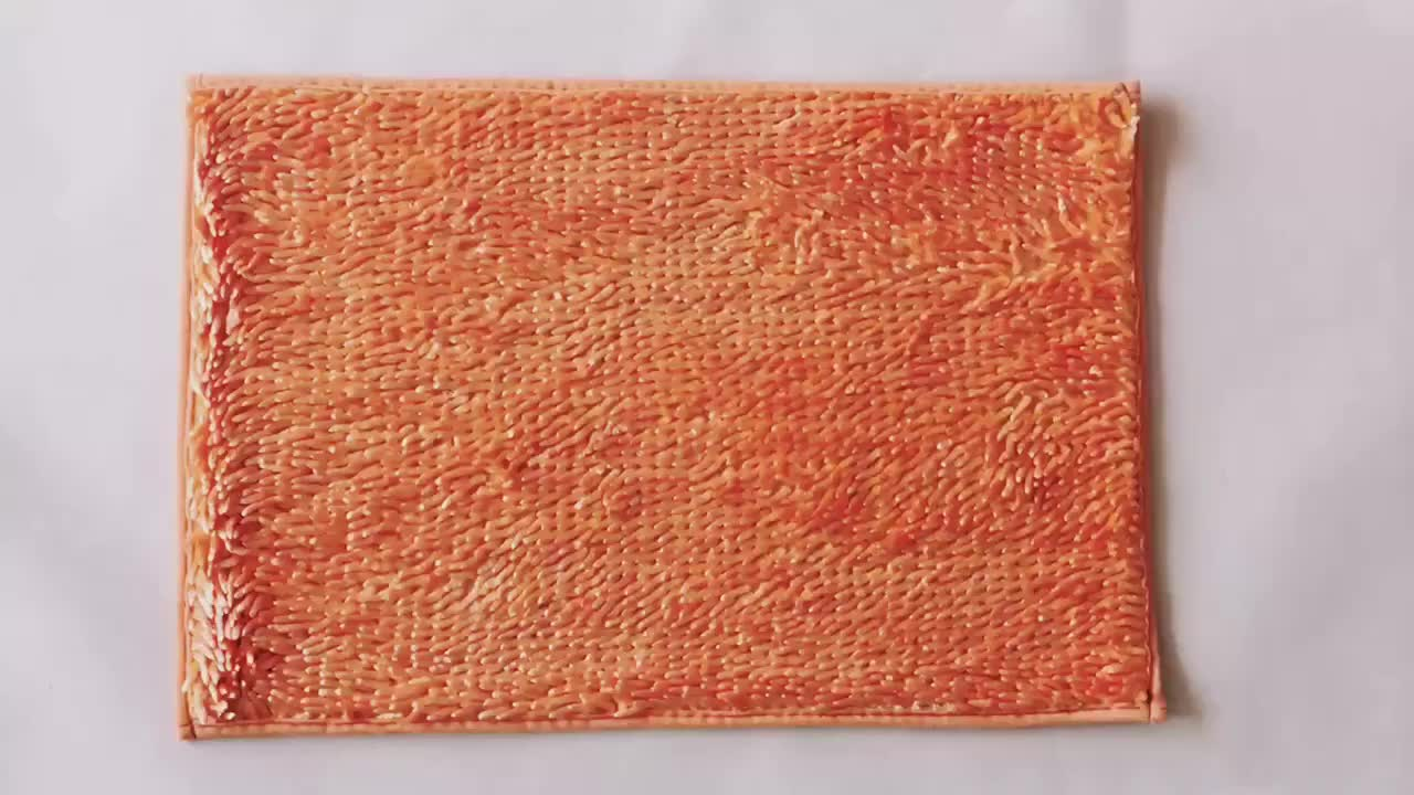 tufted chenille polyester bath rug mat