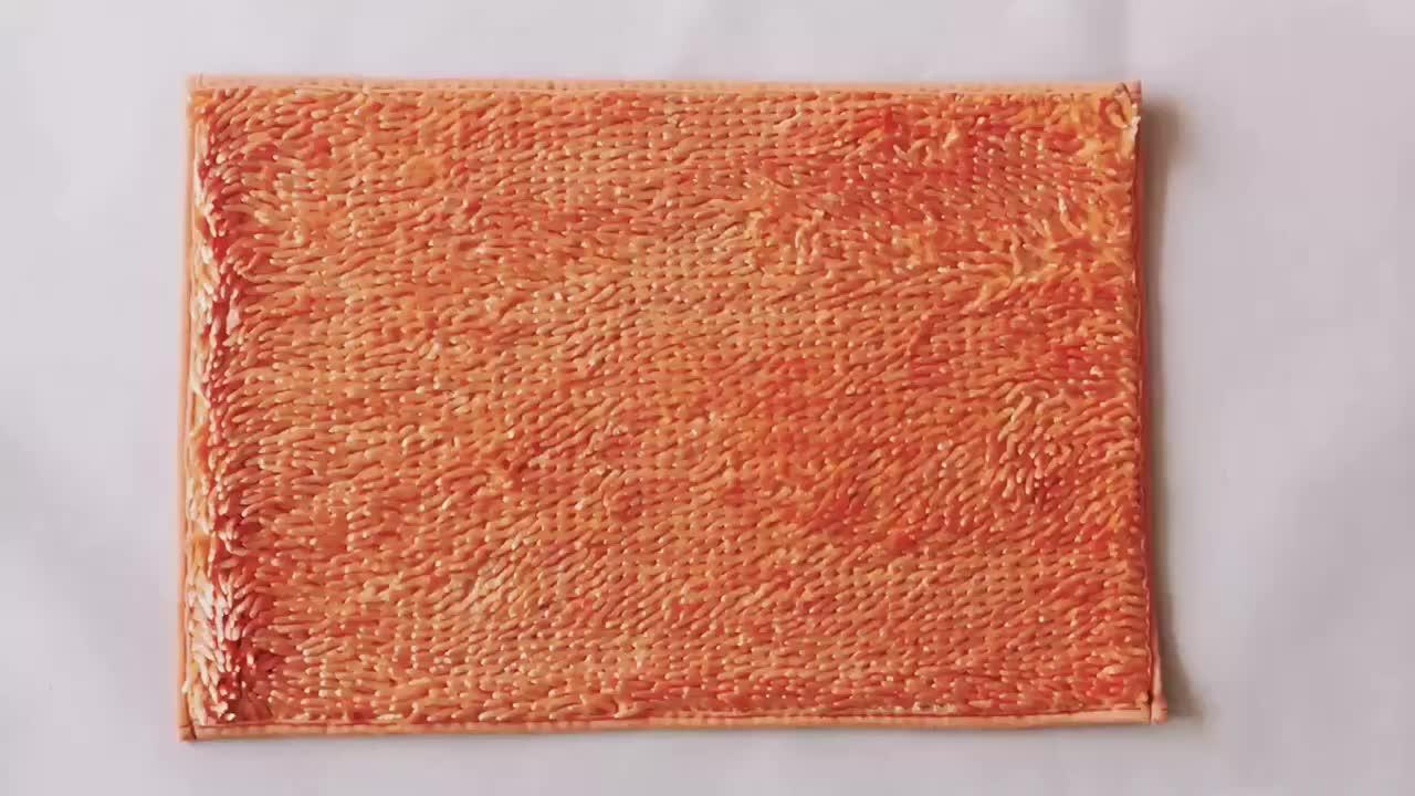 2019 HOT sell Jiachuan factory chenille bath mat
