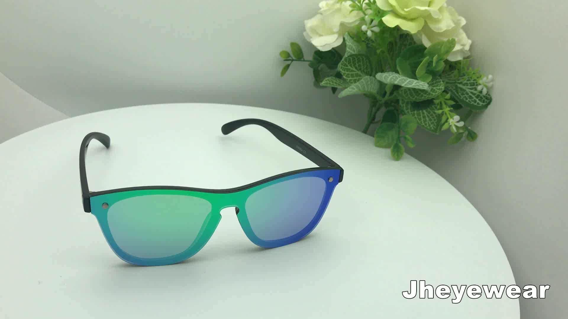 Fashion Women Men Wholesale Blue Mirror Rimless Designer Sun Glasses Sunglasses 2019