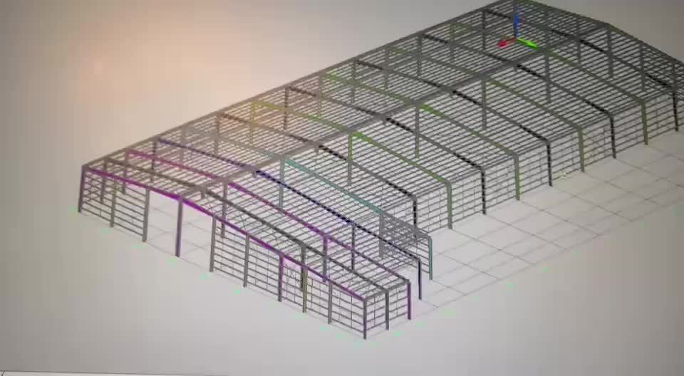 Portable Prefabricated Steel Structure Warehouse Pole Barn House