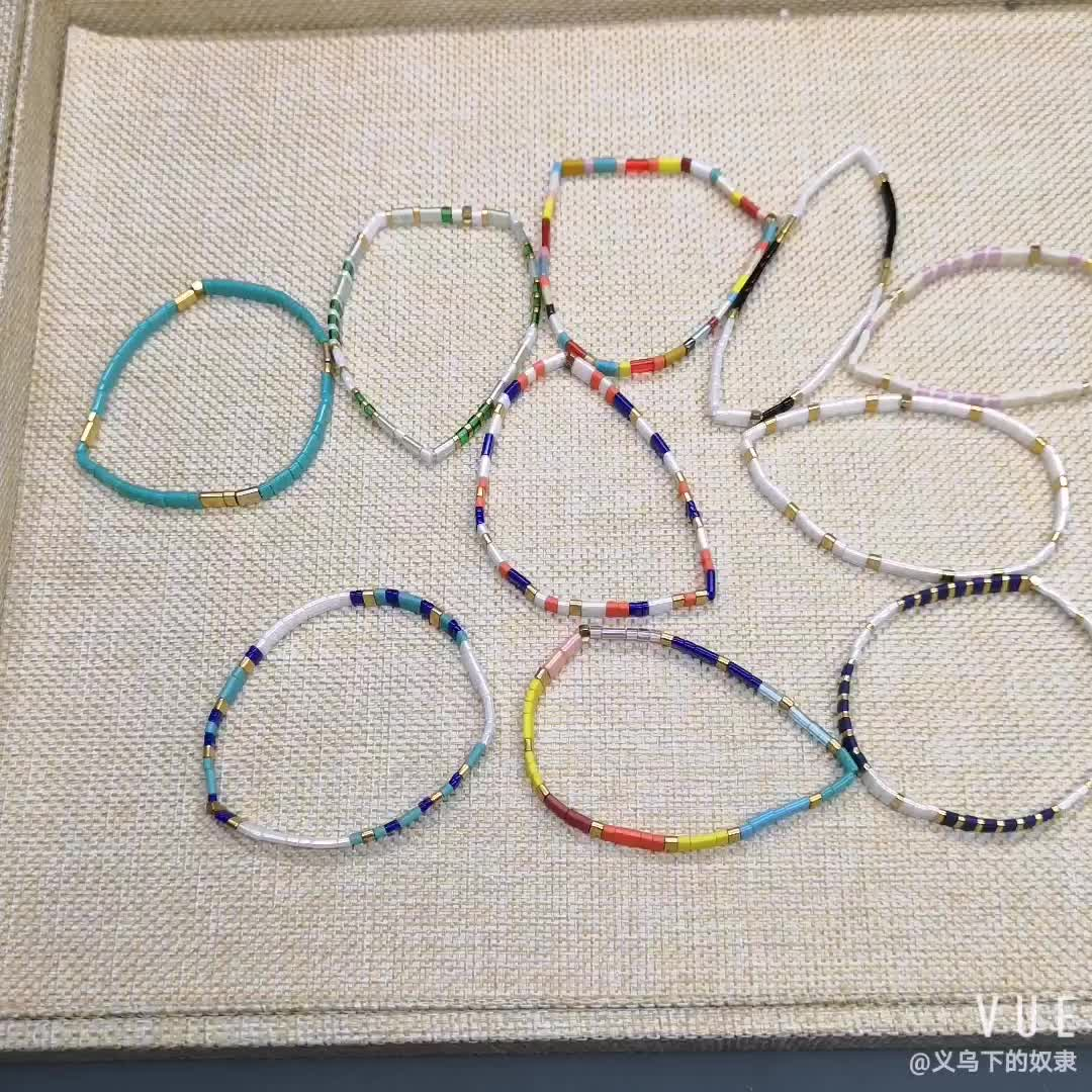 Bohemian Innovative Regenbogen Miyuki Tila Bead Armband Handmade Seed Perlen Armband Strand Geschenke Für Frauen Freundschaft Schmuck