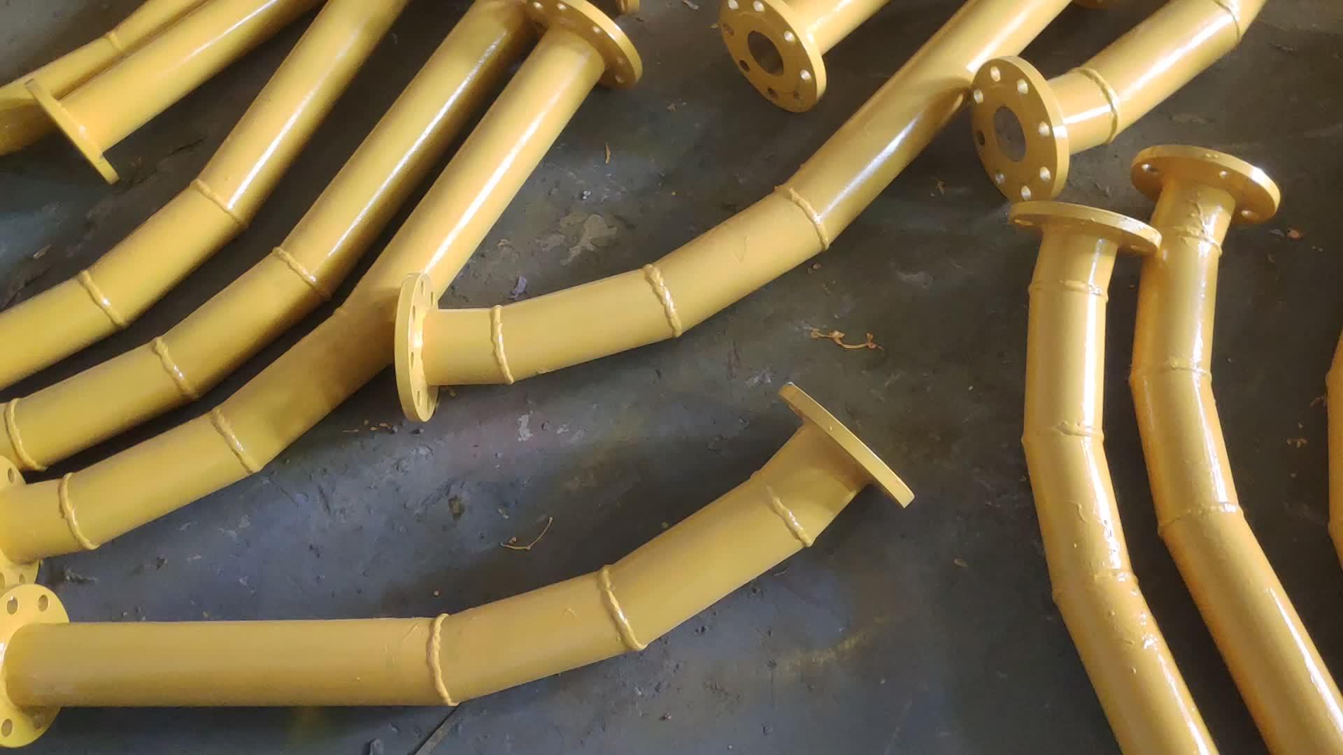 DN50 ไม่มีรอยต่อท่อเหล็กและ alumina เซรามิคซับหลอดคอมโพสิตสวมใส่ท่อ