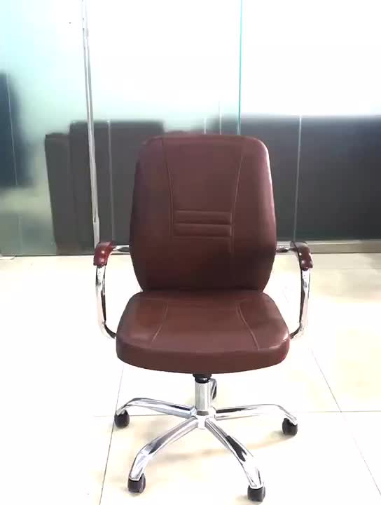 Best Reclinable High Quality Leather Ergonomic Executive Wooden Armrest Furniture Office Chair