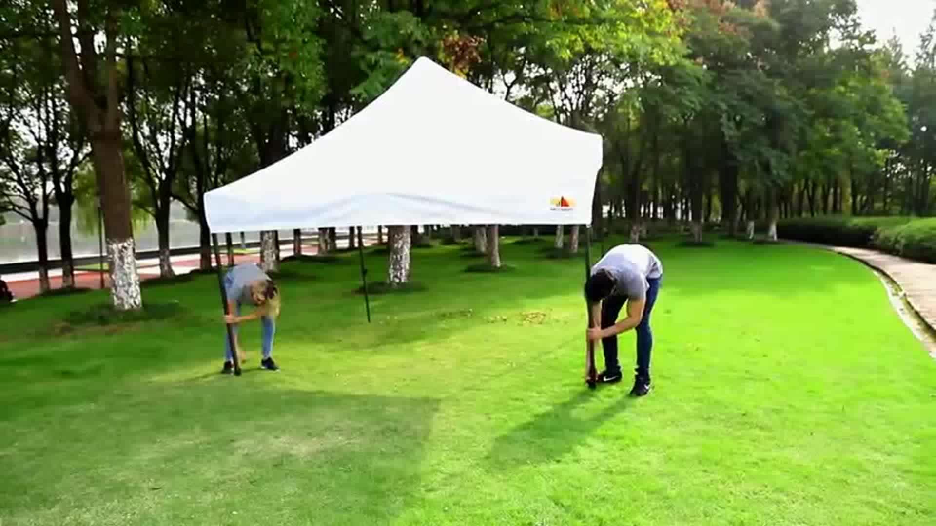 Taşınabilir oxford kumaş 3x3 pop up alüminyum, parti çadır için çelik katlanır çadır, kamp çadırı