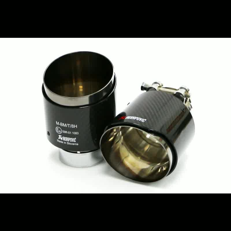 Stainless Steel Carbon Fiber Exhaust Tip For Akrapovic