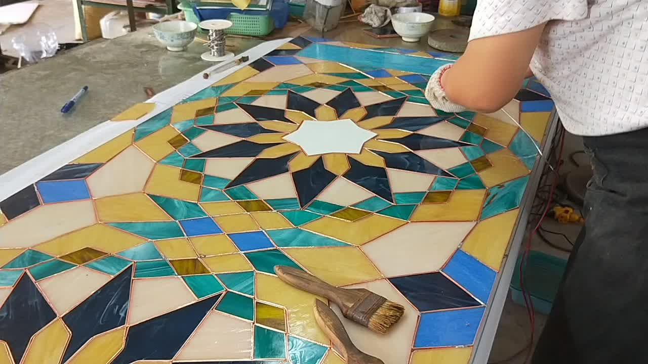 Wholesale  Tempered church Stained Glass price Per Square Meter