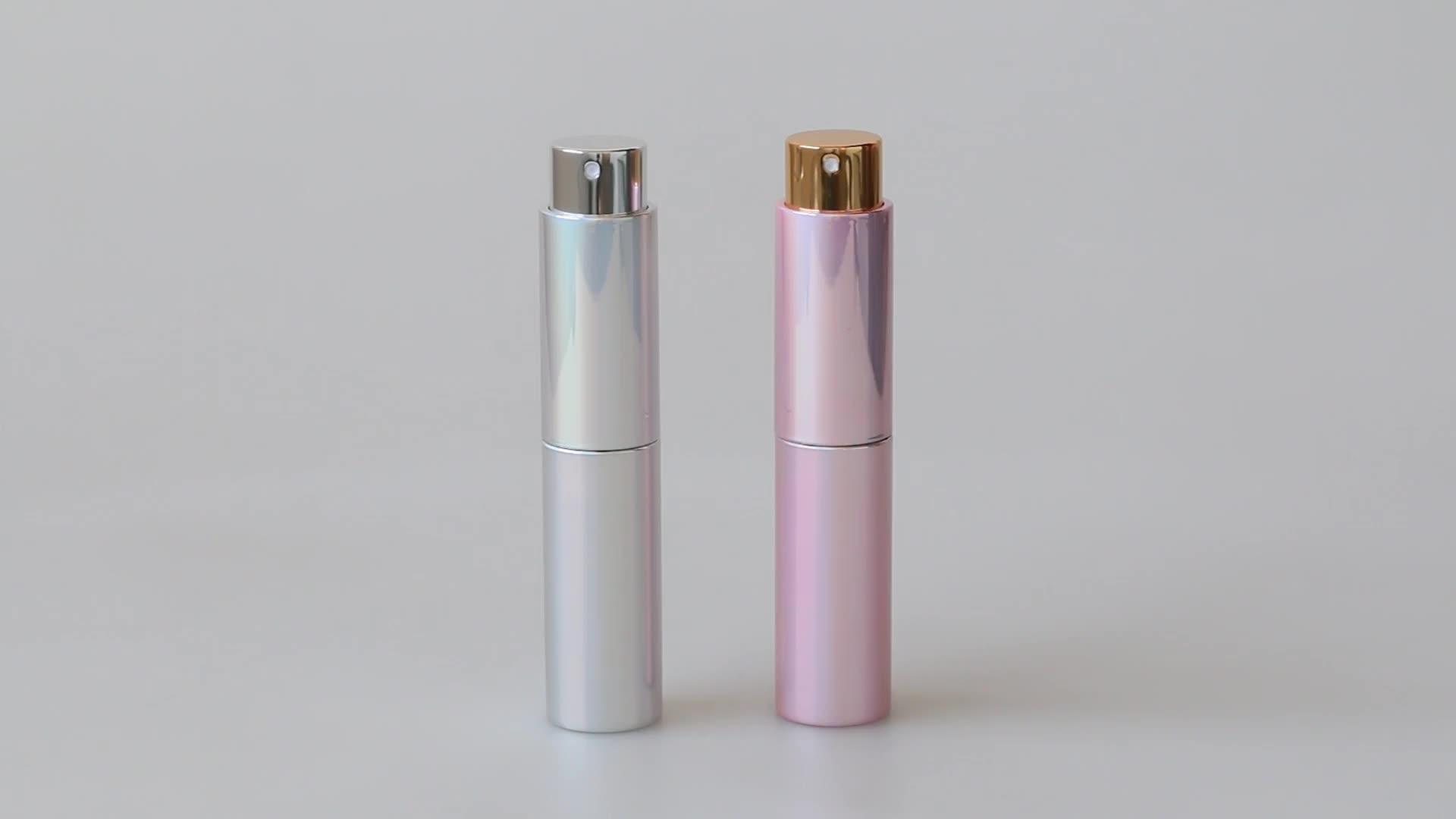 Factory direct 10ml shinning pink perfume atomizer  bottle