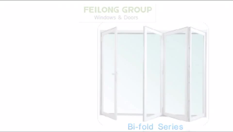 USA Australian standard Bi-fold doors accordion kitchen custom Aluminium frame heat-insulated bi-folding glass door