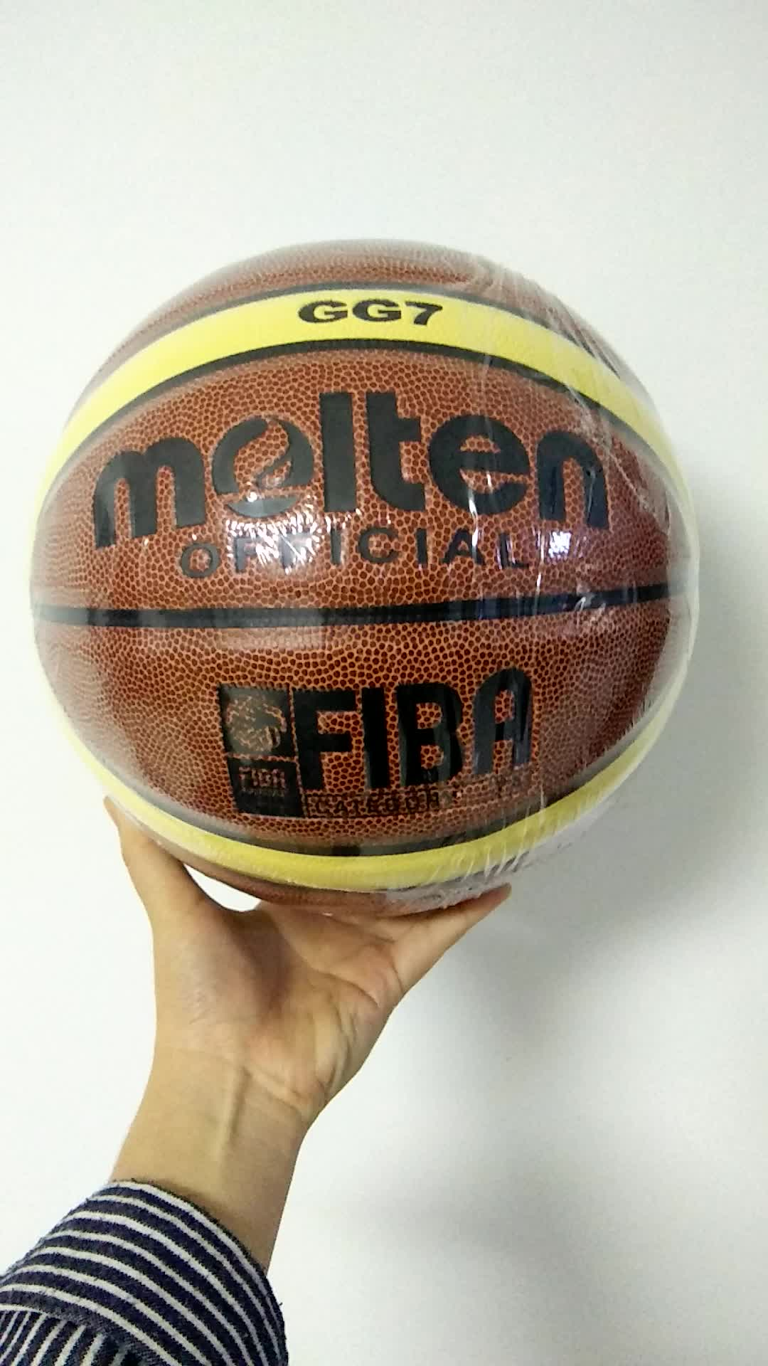 HIgh quality wholesale Professional High Quality Size 7 pu leather Laminated colour combination Molten Basketball for match