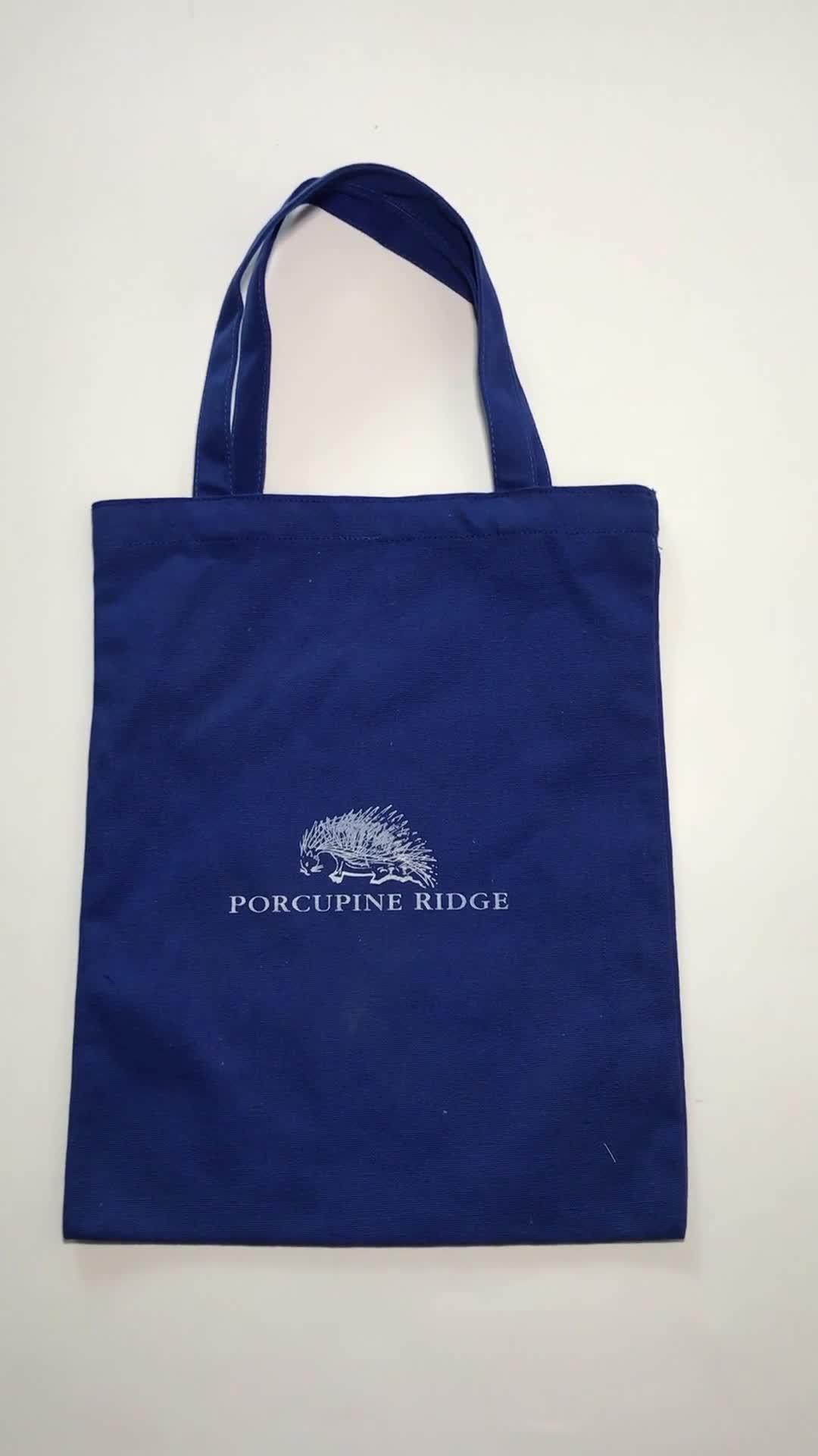 Good quality Cotton Canvas tote bag customized logo shopping bag
