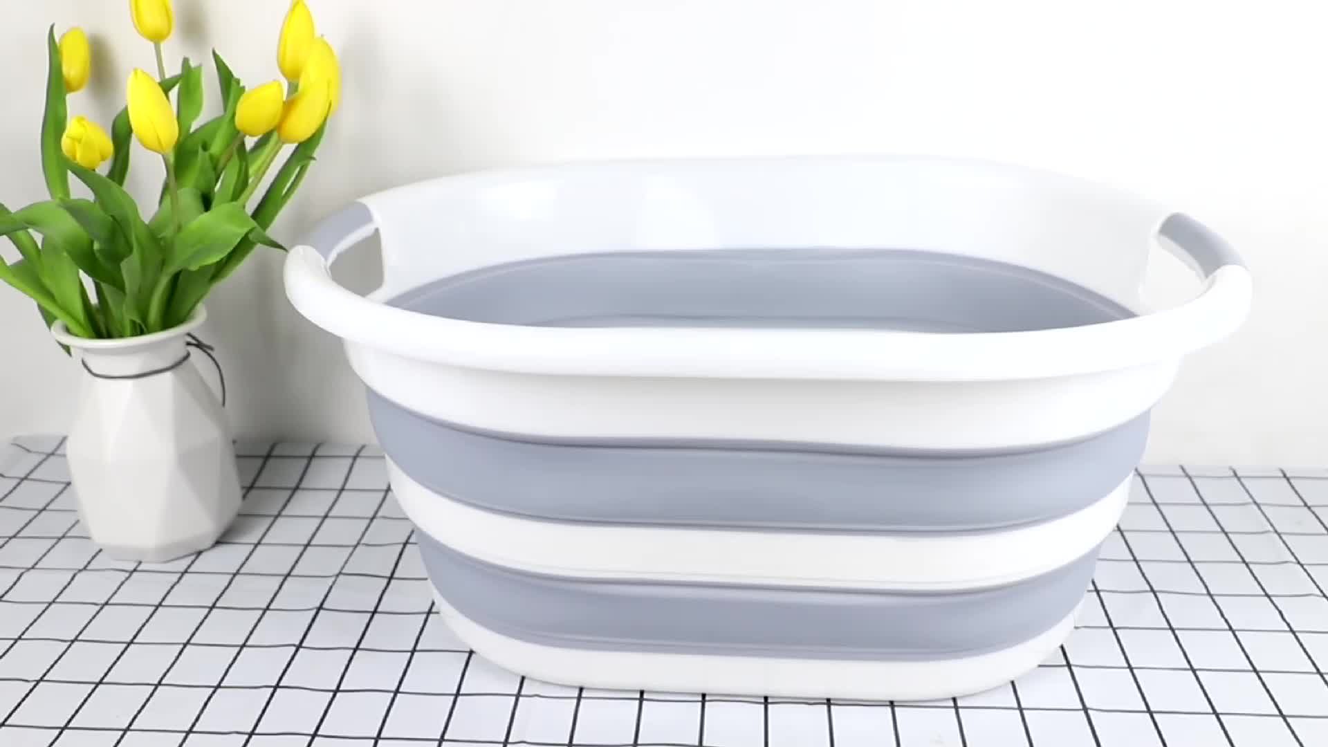 Foldable Pop Up Storage Container collapsible plastic laundry basket