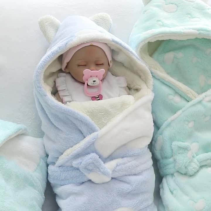 Projeto Animal 2 Camada De Lã Bebê Recém-nascido Cobertor Com Capuz