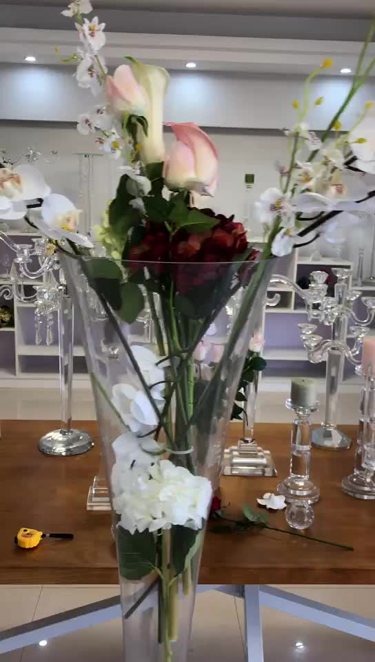 best selling tall clear glass vase,charming table decoration flower vase centerpiece,clear tall standing glass vases