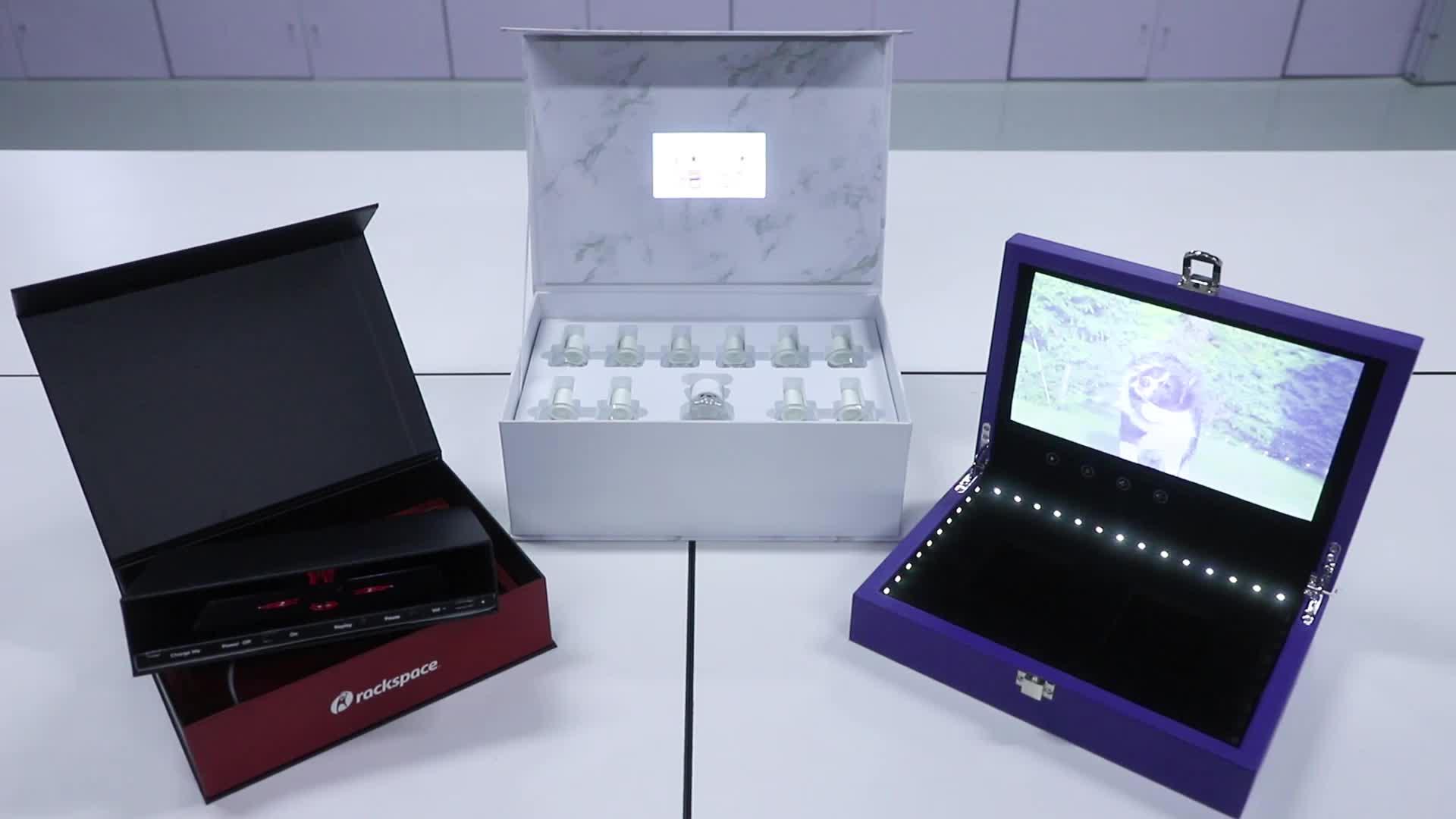 """Digitale Katalog 2,8 """"Lcd-bildschirm Visitenkarte mit LCD Wirtschaftsförderung"""